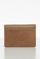 BOSSI - Leather textured carholder - tan
