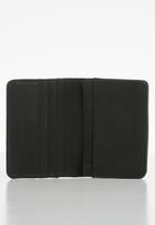 BOSSI - Leather textured carholder - black