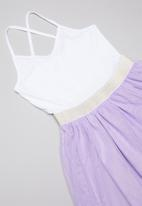 POP CANDY - Tutu dress - white & purple
