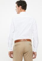 POLO - PJC long sleeve cracker poplin shirt - white