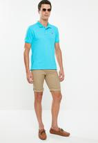 POLO - Carter custom fit short sleeve pique golfer - blue