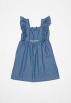 POP CANDY - Frill sleeve dress - blue