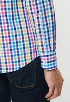 POLO - Harrison multi check signature long sleeve shirt - multi