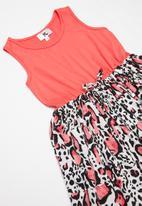 Rebel Republic - Tweens combo fabric dress with pockets - multi