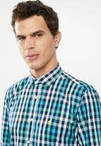 POLO - Braxton green check signature shirt - multi