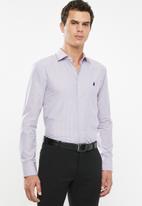 POLO - Ashton bengal stripe dobby signature ls shirt - blue & peach