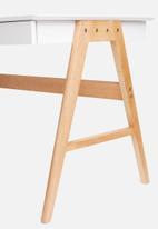 Basics - Hanson desk – white/oak