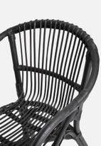 Sixth Floor - Rattan kubu chair - black