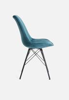 Sixth Floor - Finch upholstered dining chair - navy
