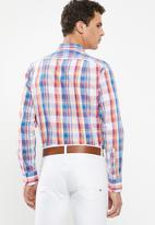 POLO - Mens custom fit signature long sleeve shirt - multi