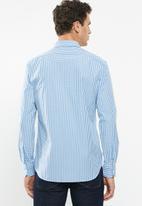 POLO - Mens custom fit signature shirt - blue & white