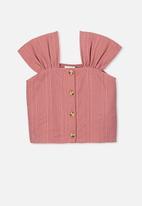 Cotton On - Paloma short sleeve button through - pink