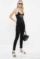 GUESS - Guess dynasty logo bodysuit - black