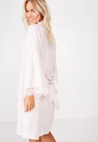 Cotton On - Woven lace trim gown  - pink
