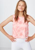 Cotton On - Cropped active muscle tank  - pink
