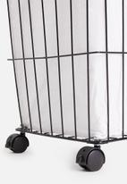 Bathroom Solutions - Metal laundry basket - black & white