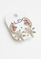 ALDO - Erardocl earrings - pink & green