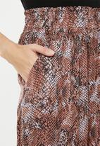 Superbalist - Paperbag wideleg culottes - rust