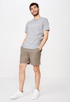Cotton On - Tbar text T-shirt - grey