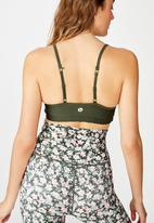Cotton On - Workout yoga crop  - green