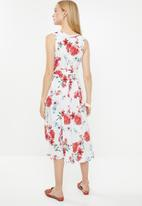 AMANDA LAIRD CHERRY - Simosihle dress - white & coral