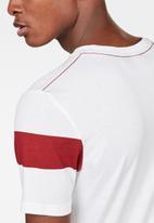 G-Star RAW - Graphic 13 slim short sleeve T-shirts - white