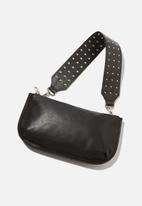 Cotton On - Rock it short bag strap - black studded
