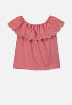 Cotton On - Yani off the shoulder top - rusty blush