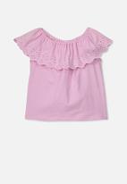 Cotton On - Yani off the shoulder top - pink lavender