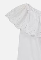 Cotton On - Yani off the shoulder top - white