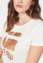 G-Star RAW - Graphic 21 T-shirt - white