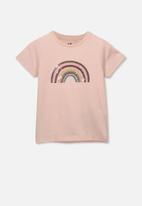 Cotton On - Stevie short sleeve embellished T-shirt - pink