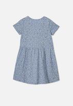 Cotton On - Freya short sleeve dress - blue