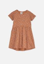 Cotton On - Freya short sleeve dress - brown
