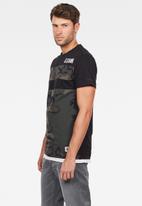 G-Star RAW - Graphic 2 short sleeve T-shirts - black
