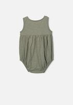 Cotton On - Craigelina singlet bubbysuit - green