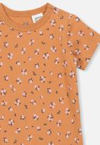 Cotton On - The short sleeve romper - orange
