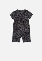 Cotton On - The short sleeve romper - black