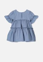 Cotton On - Abby flutter dress - blue