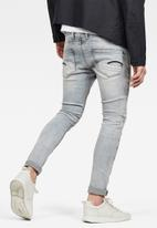 G-Star RAW - Wess grey superstretch-sun faded - grey