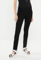 GUESS - Power skinny low jeans - black
