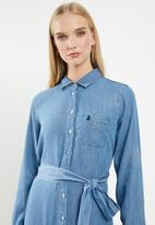 POLO - Daphine chambray dress - blue