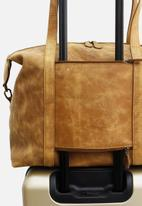 Escape Society - Leather nomadic weekender - brown