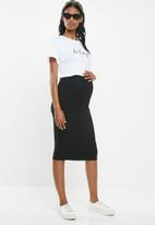 New Look - Jersey pull on skirt - black
