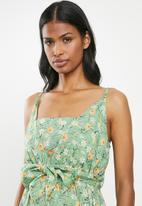 Superbalist - Tie front dress - green