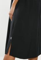 Cherry Melon - Maternity Woven strappy midi dress - black