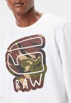 G-Star RAW - Cheldan long sleeve smithfield sweat - white