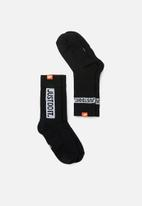 Nike - Sneaker sox 2 pack socks - black