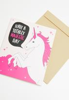 Typo - Nice birthday card - totally majestic day