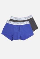 Jockey - 2 Pack new gen pouch trunks - blue & grey